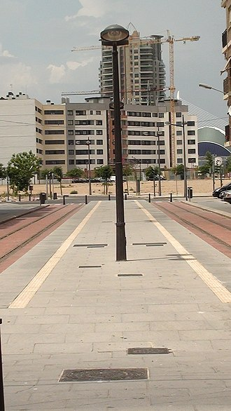 Line 10 (Metrovalencia) - The completed Natzaret tram stop, the future terminus of the line.