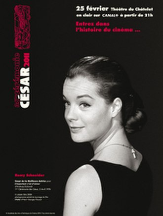 36th César Awards - Official poster featuring a photo of the late German actress Romy Schneider