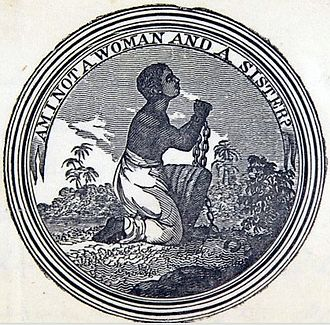 """Hetty Reckless - """"Am I not a woman and a sister?"""" – the seal of the Philadelphia Female Anti-Slavery Society, of which Reckless was a founder member."""