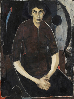 Clifton Pugh - Portrait of a Woman (Marlene Pugh) 1956, oil on hardboard