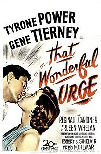 <i>That Wonderful Urge</i> 1948 film by Robert B. Sinclair