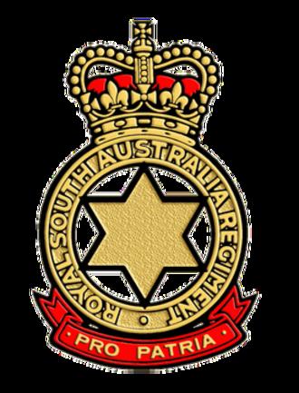 Royal South Australia Regiment - Cap badge of the Royal South Australia Regiment
