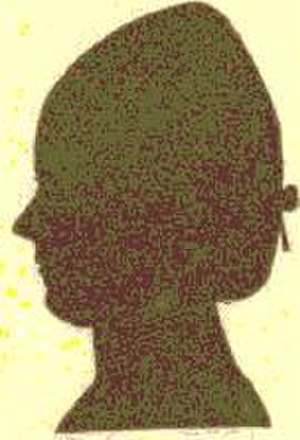 Sally Wister - Silhouette of Sally Wister, her only known likeness.
