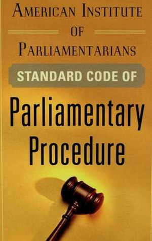 The Standard Code of Parliamentary Procedure - Cover of 2012 edition