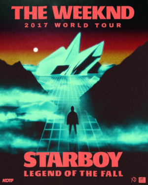 Starboy: Legend of the Fall Tour - Image: Starboy Legend of the Fall Tour Poster