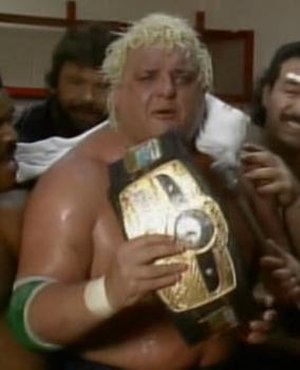 Starrcade (1985) - Dusty Rhodes, after winning the NWA World Heavyweight Championship