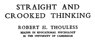 <i>Straight and Crooked Thinking</i> book by Robert H. Thouless