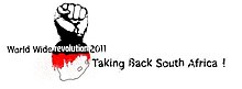 A taking back South Africa logo.