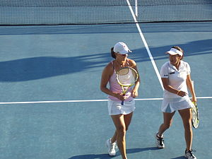 Tamarine Tanasugarn - Yaroslava Shvedova and Tamarine Tanasugarn in 2009 Pattaya Women's Open doubles final match