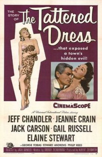 The Tattered Dress - Film poster by Reynold Brown