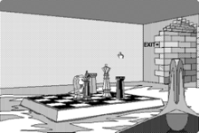 A screenshot from the Apple Mac release of The Manhole game.