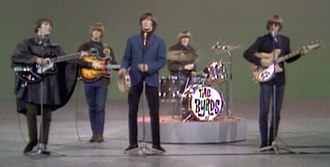 "Folk rock - The Byrds performing ""Mr. Tambourine Man"" on The Ed Sullivan Show, 12 December 1965."