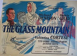 The Glass Mountain (film) - Original British quad poster