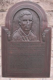 Tom Hunter (VC) Recipient of the Victoria Cross