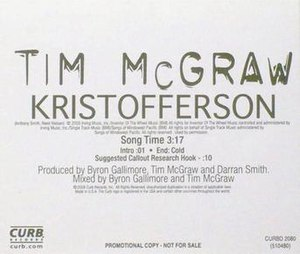 Kristofferson (song) - Image: Tim Mc Graw Kristofferson