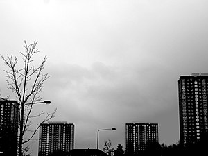"Townhead - The Townhead ""B"" multi storey housing estate, built in 1967"