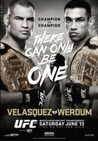 A poster or logo for UFC 188: Velasquez vs. Werdum.
