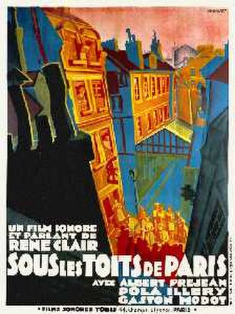 Under the Roofs of Paris - Theatrical release poster