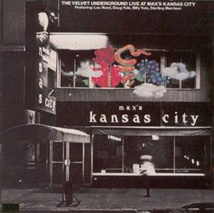 Live at Max's Kansas City - Image: VU Live At Max