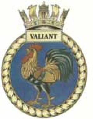 HMS Valiant (S102) - Image: Valiant crest