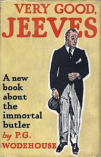 <i>Very Good, Jeeves</i> 1930 short story collection by P.G. Wodehouse