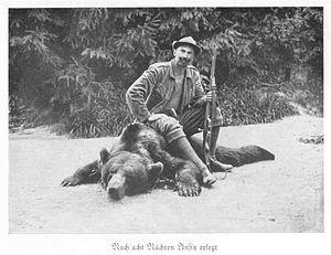 August von Spiess - Von Spiess, after a Carpathian bear hunt.