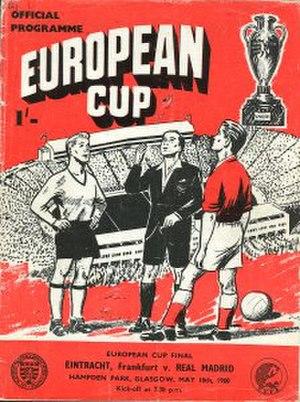 1960 European Cup Final - Image: 1960 European Cup Final programme