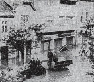 1970 floods in Romania - Image: 1970Alba Iuliaflood
