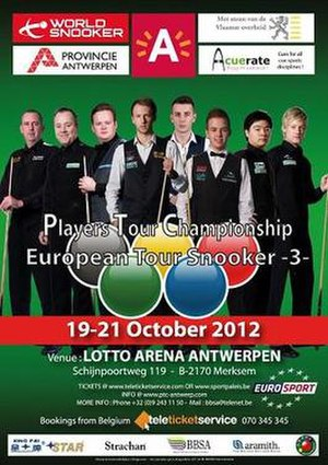 European Tour 2012/2013 – Event 3 - Image: 2012 Acuerate Antwerp Open poster