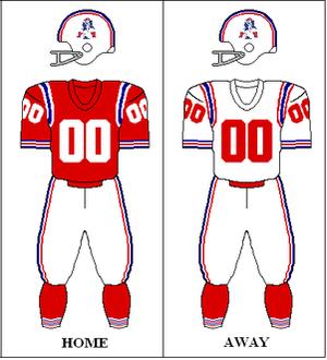 1966 Boston Patriots season - Image: AFC 1966 Uniform NE