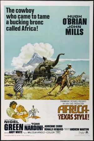 Africa Texas Style - US film poster by Frank McCarthy