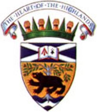 Antigonish, Nova Scotia - Image: Antigonish ns crest