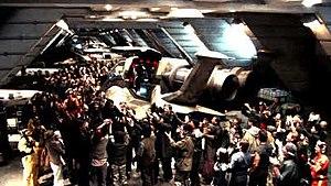 Exodus (Battlestar Galactica) - Image: Battlestar Galactica 3x 04 Exodus P2