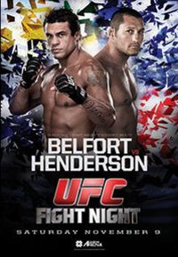 A poster or logo for UFC Fight Night: Belfort vs. Henderson.