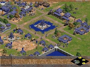 Age of Empires (video game) - A custom scenario: Champa invaders attack the Khmer Empire, which attempts to construct the legendary Angkor Wat.