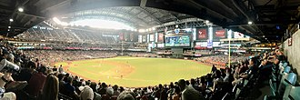 Chase Field - Panoramic of Diamondbacks vs. Rockies game July 2, 2017