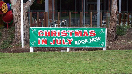 Christmas in July promotional banner in Melbourne, Australia. Christmas in july au.jpg