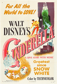 <i>Cinderella</i> (1950 film) 1950 American animated musical fantasy film produced by Walt Disney and released by RKO Radio Pictures
