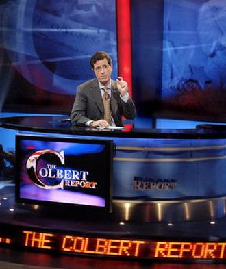 "Stephen Colbert (character) - The ""Eagle's Nest"", with its many references to Colbert, reflects the character's self-aggrandizing style."