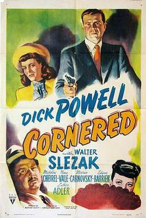 Cornered (1945 film) - Theatrical release poster