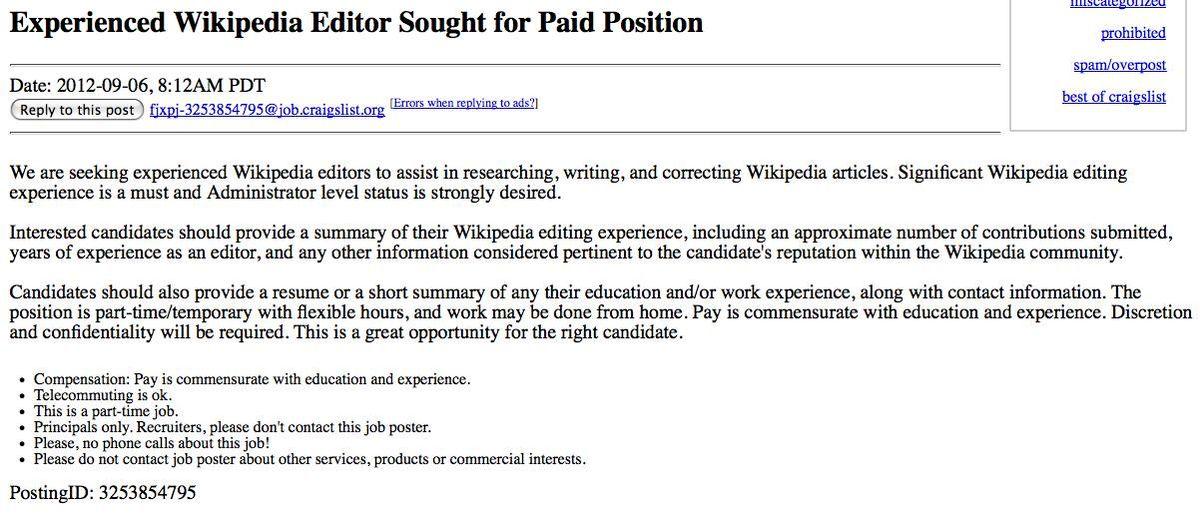 File:Craigslist ad for wp editors jpg - Wikipedia