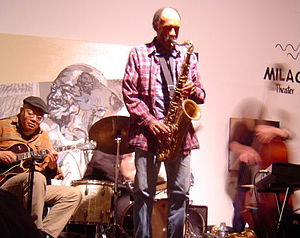 Daniel Carter (musician) - Carter in concert at Les Gallery Clemente Soto Velez, NYC, February 5, 2005.