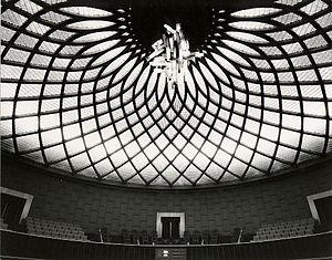 Senate of Iran - Image: Dome of the Tehran Senate House, 1971 (internal view)