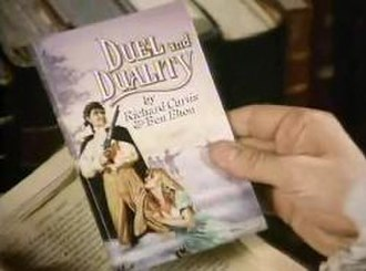 Duel and Duality - The duelling theme of the episode is illustrated by the titlecard artwork.