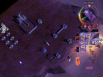 Emperor: Battle for Dune - Screenshot of Emperor featuring an Atreides base