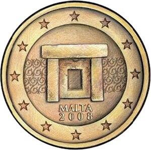 Maltese euro coins - Image: Eurocoins.malta.choi ce 3