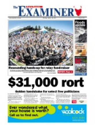 The Examiner (Tasmania) - Image: Examiner front page