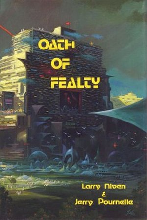 Oath of Fealty (novel) - Cover of the first edition, published by Phantasia Press. Art by Paul Lehr.