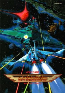<i>Gradius</i> (video game) Sidescrolling shooter video game by Konami