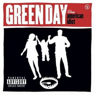 American Idiot (song) - Image: Green Day American Idiot single cover